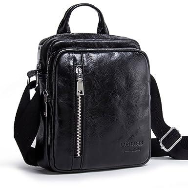 Contacts Mens Genuine Leather Crossbody Single-Shoulder 8 quot  iPad Mini  Messenger Tote Bag ( d16313a27e