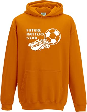 Hat-Trick Designs Luton Town Football Baby Childrens T-Shirt Top-Orange-Future Star-Unisex Gift Supporters Gear