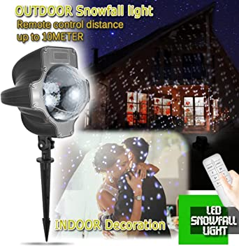 Efecto de Luces Led, iEZok Copo de Nieve Led Decorativo Jardin ...
