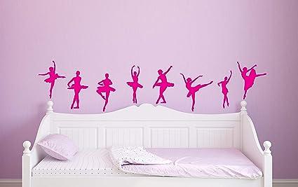 8 Ballet Dancer Ballerina Wall Stickers Decals Ballet Wall Decal - Girls  Kids Room Décor - ad47de5d3c8c