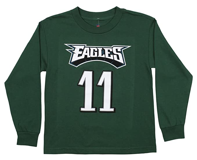 11ee7792ab1 Amazon.com : Outerstuff NFL Youth's Philadelphia Eagles Carson Wentz Long  Sleeve Mainliner Tee : Sports & Outdoors