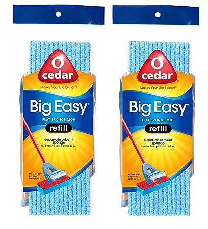 Amazon O Cedar Big Easy Flat Sponge Mop Refill Pack Of 2