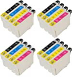 4 sets of Compatible Epson T0715 ink cartridges for Epson Stylus B40w BX300f BX310fn BX410 BX510 BX600fw BX610fw D78 D92 D120 DX400 DX4000 DX4050 DX4400 DX 4400 DX4450 DX5000 DX5050 DX6000 DX6050 DX7000f DX7400 DX7450 DX8400 DX8450 DX9400f S20 S21 SX100 SX105 SX110 SX115 SX200 SX205 SX209 SX210 SX212 SX215 SX218 SX 218 SX400 SX405 SX405wfi SX410 SX415 SX510w SX515w SX600fw SX610fw Printers - Compatible Epson Cheetah Inks T0715 T0891 T0892 T0893 T0894 T0895 T0896 TO711 TO712 TO713 TO714 TO715 E- 711 E- 712 E- 713 E- 714 E- 715 (Contains 4x T0711 Black, 4x T0712 Cyan, 4x T0713 Magenta, 4x T0714 Yellow)