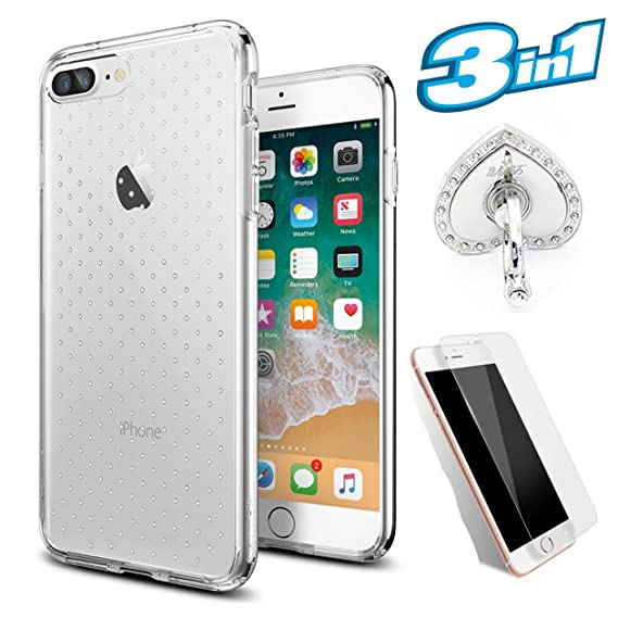 Amazon Com Iphone 7 Case Iphone 8 Case With Screen Protector