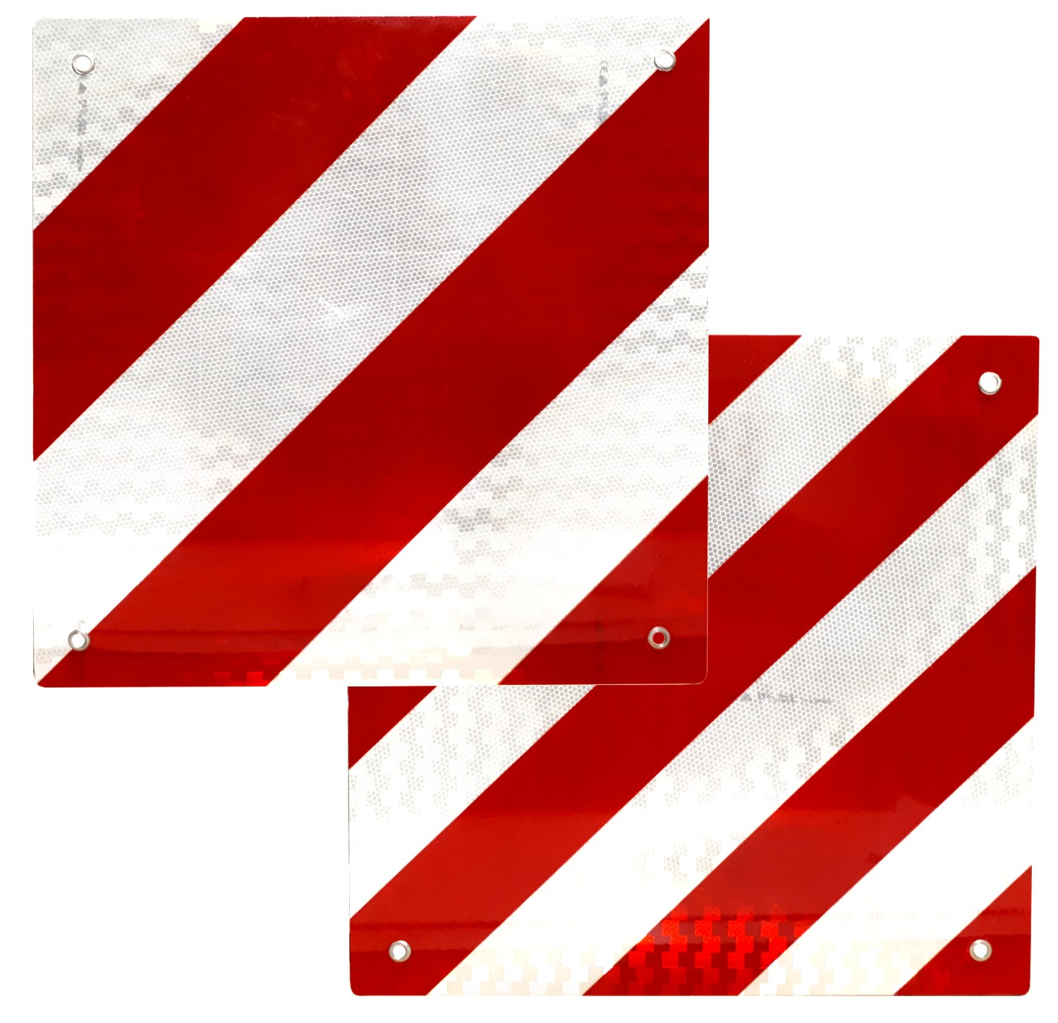 load warning Sign Reflective for Spain and Italy 50 x 50 Centimeter Red White (Spain & Italy) Family Motoring & Leisure