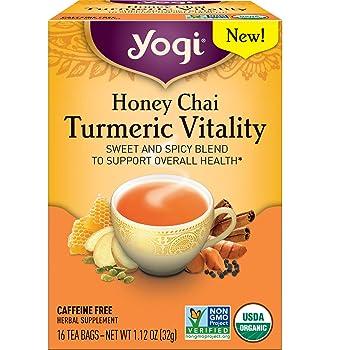 Yogi Herbal Supplement Turmeric Tea