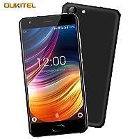 Smartphone Libre Baratos, OUKITEL K4000 Plus 4G Dual SIM Móvil 5 Pulgadas 2.5D Pantalla 4100mAh Batería 2GB + 16GB Quad Core 1.3GHz Android 6.0 13MP + 5MP Cámara GPS - Negro