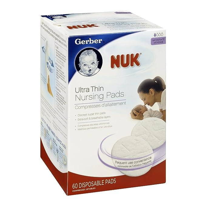 NUK Ultra Thin Disposable Nursing Pads 66 Ct Box Slightly Damaged