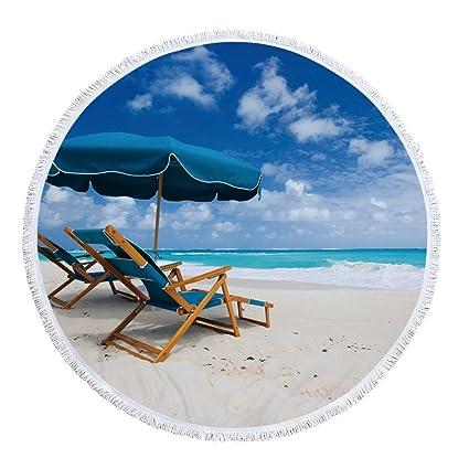 IndButy Toallas de Playa chales Abrigos Cojines Mantas de Playa Vistas de la Playa 002