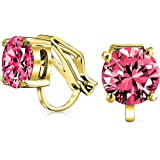 Bling Jewelry Aretes Dormilonas Stud Redondos Sintético Rubí 8mm