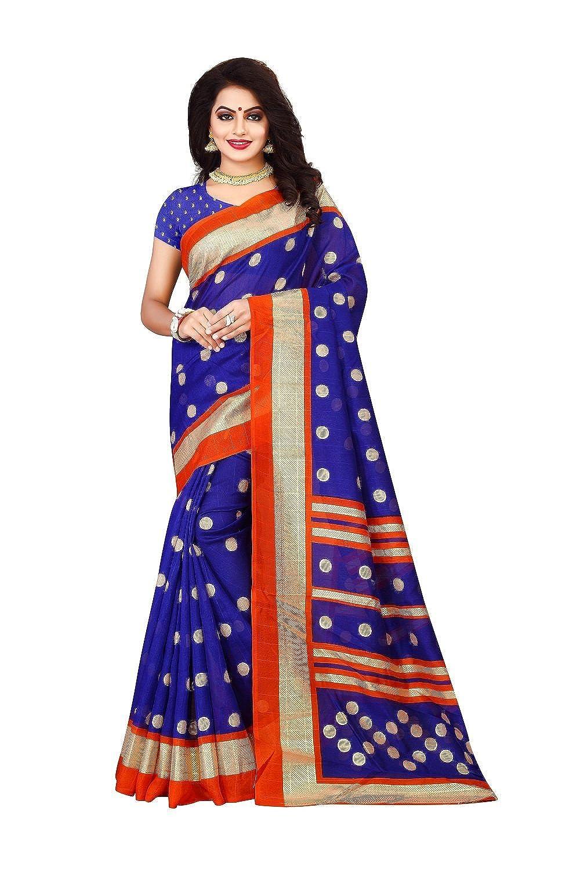Best Designer Bhaglpuri Cotton Saree With Blouse Piece For Festive Wear