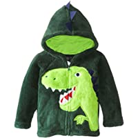 COCM10 Baby Boys Jacket Coats Kids Dinosaur Coral Fleece Hoodies Toddler Winter Outerwear UK Size 1-6 Years