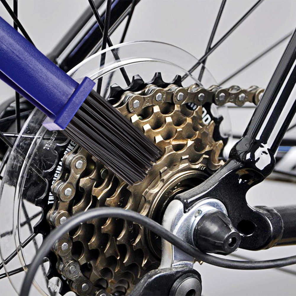 BESNIN Bike Chain Cleaning Brush kit Bike Cleaning Tools with Cassette Brush Chain Wear Indicator Tool for Bicycle and Motorcycle