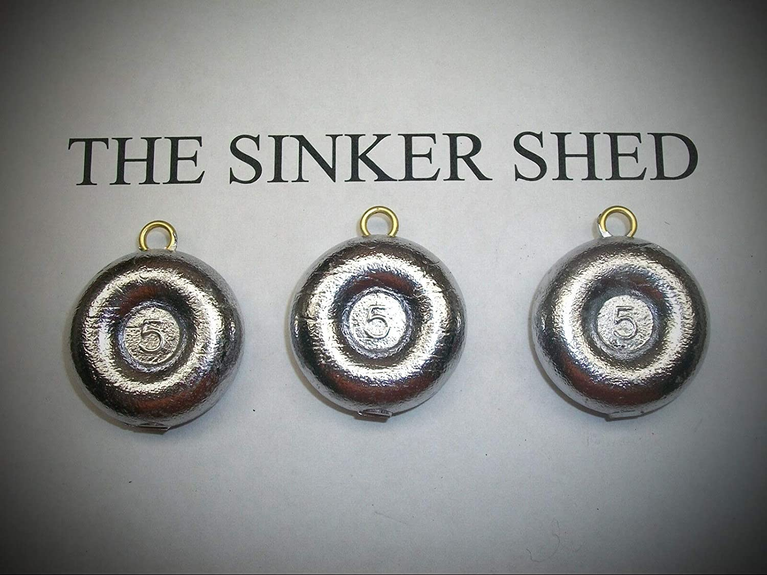 50 Pièces Plat Rond Coin River Sinkers 3//4 oz