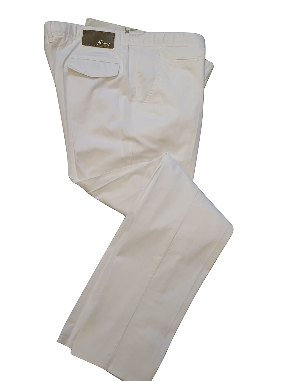 f76d9b29a8c1d6 durable service Brioni Men's Capri White Cotton Chinos 41 - malo-selo.hr