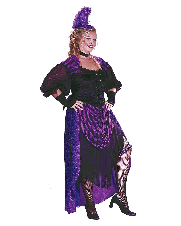amazoncom plus size saloon girl theatre costumes maverick wild west sizes one size clothing