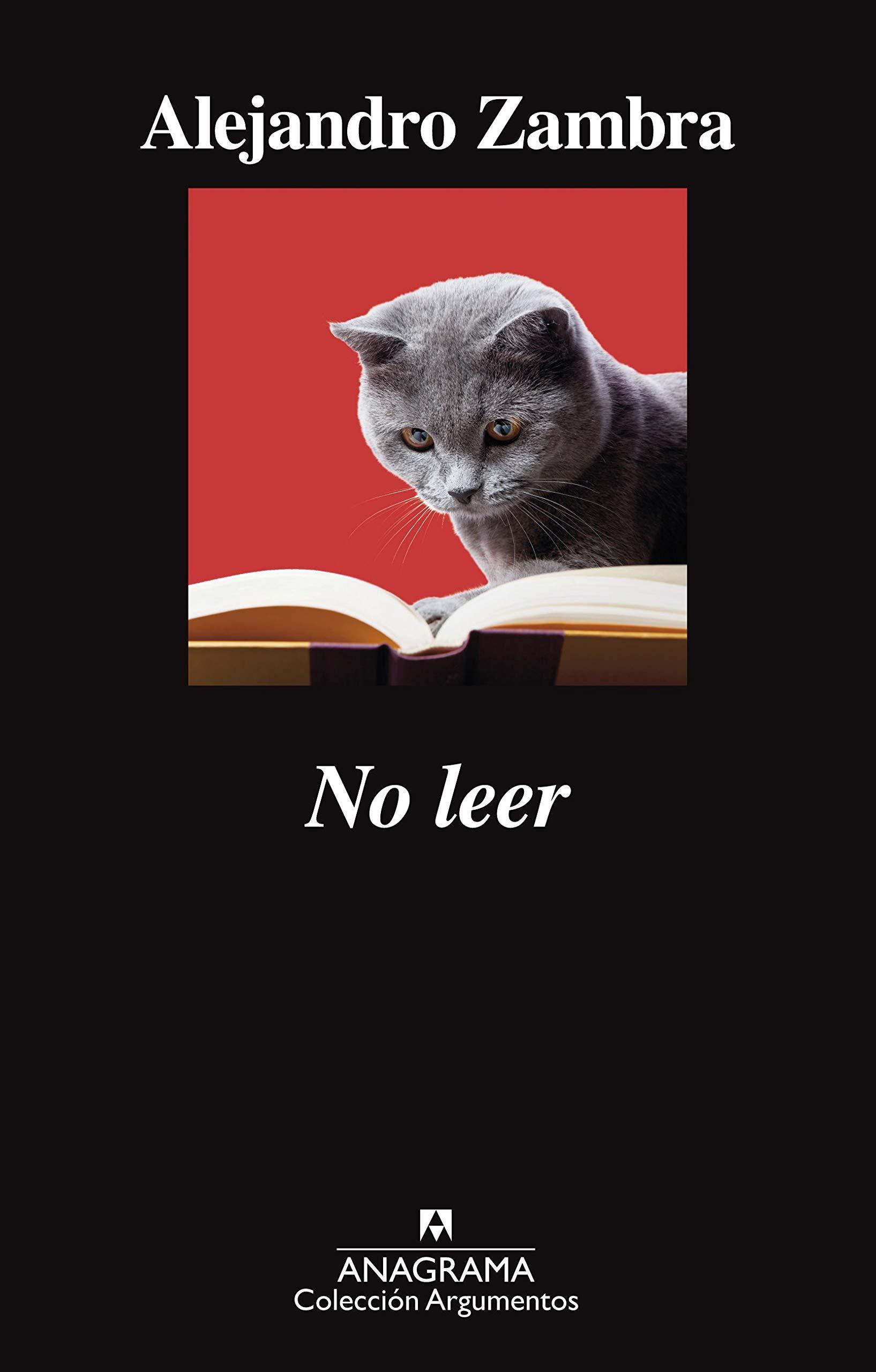 No leer, de Alejandro Zambra. Los mejores libros de 2012