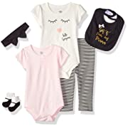 Little Treasure Baby 6 Piece Clothing Set, Mama 3-6 Months (6M)