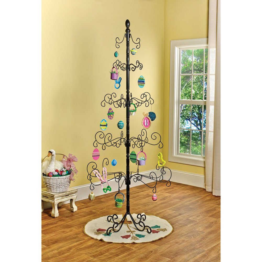 Amazon.com: Kalalou Wrought Iron Christmas Ornament Display Tree ...