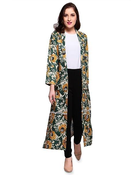 8dde73439ce Smarty Pants Women Multi Colour Floral Print Long Shrug  Amazon.in   Clothing   Accessories