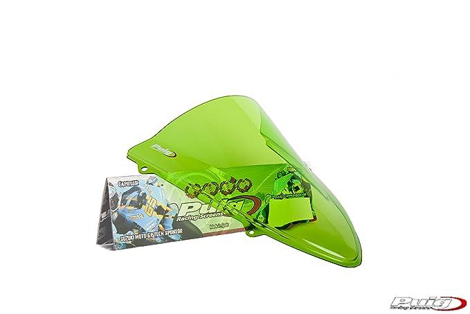 Amazon.com: PUIG parabrisas race-grn Ninja 250R 08 Race ...
