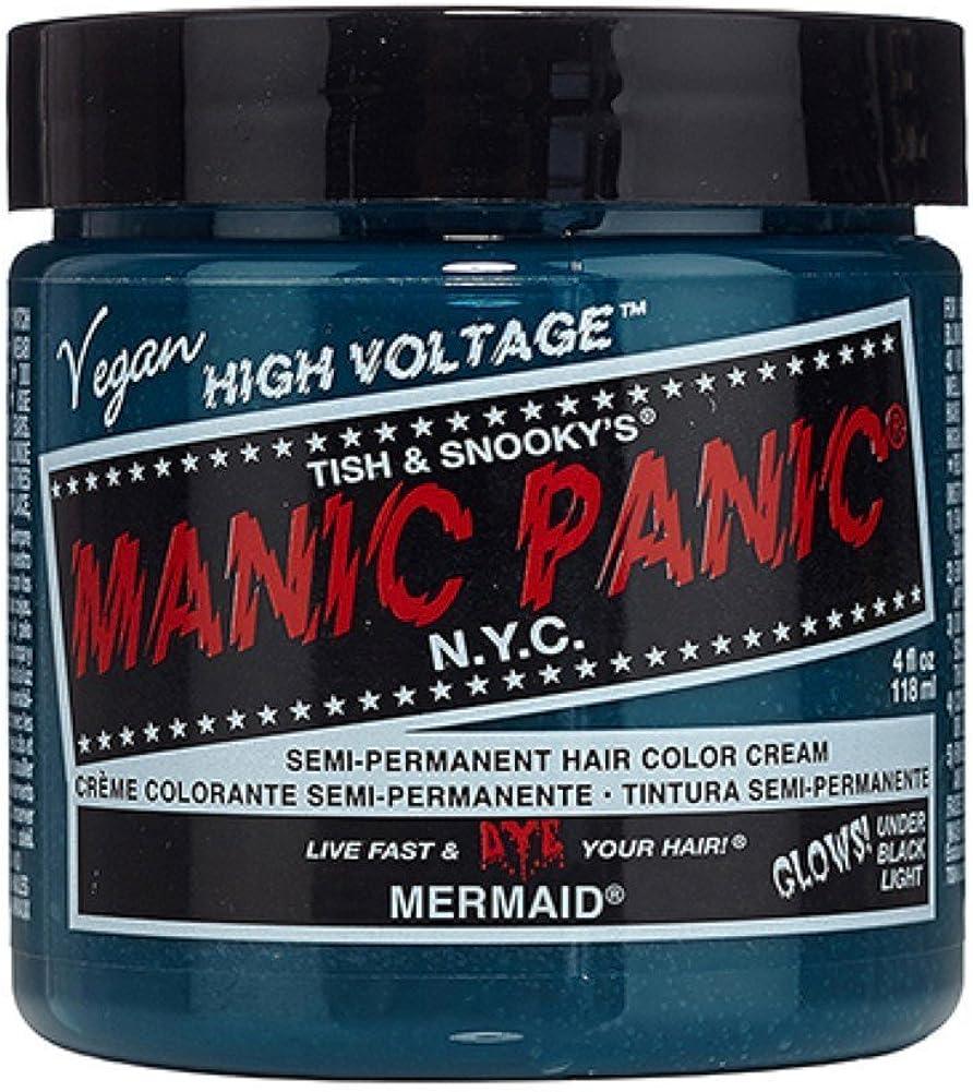 Manic Panic - Tinte de pelo, 118 ml, color azul sirena ...
