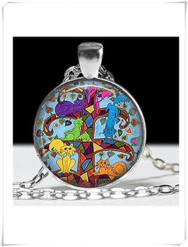 Árbol de la vida con los amantes de los gato gatos joyas árbol de la vida colgante, collar: Amazon.es: Joyería