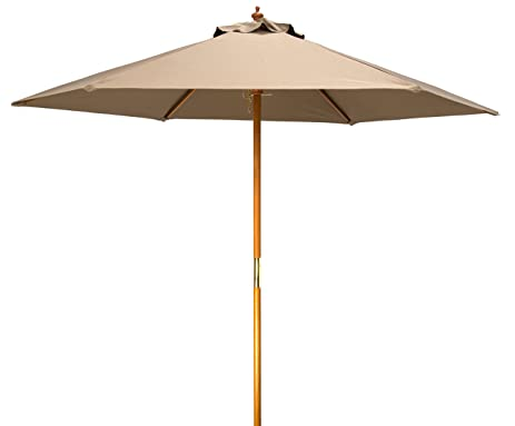8u0027 Wood Frame Patio Umbrella By Trademark Innovations ...
