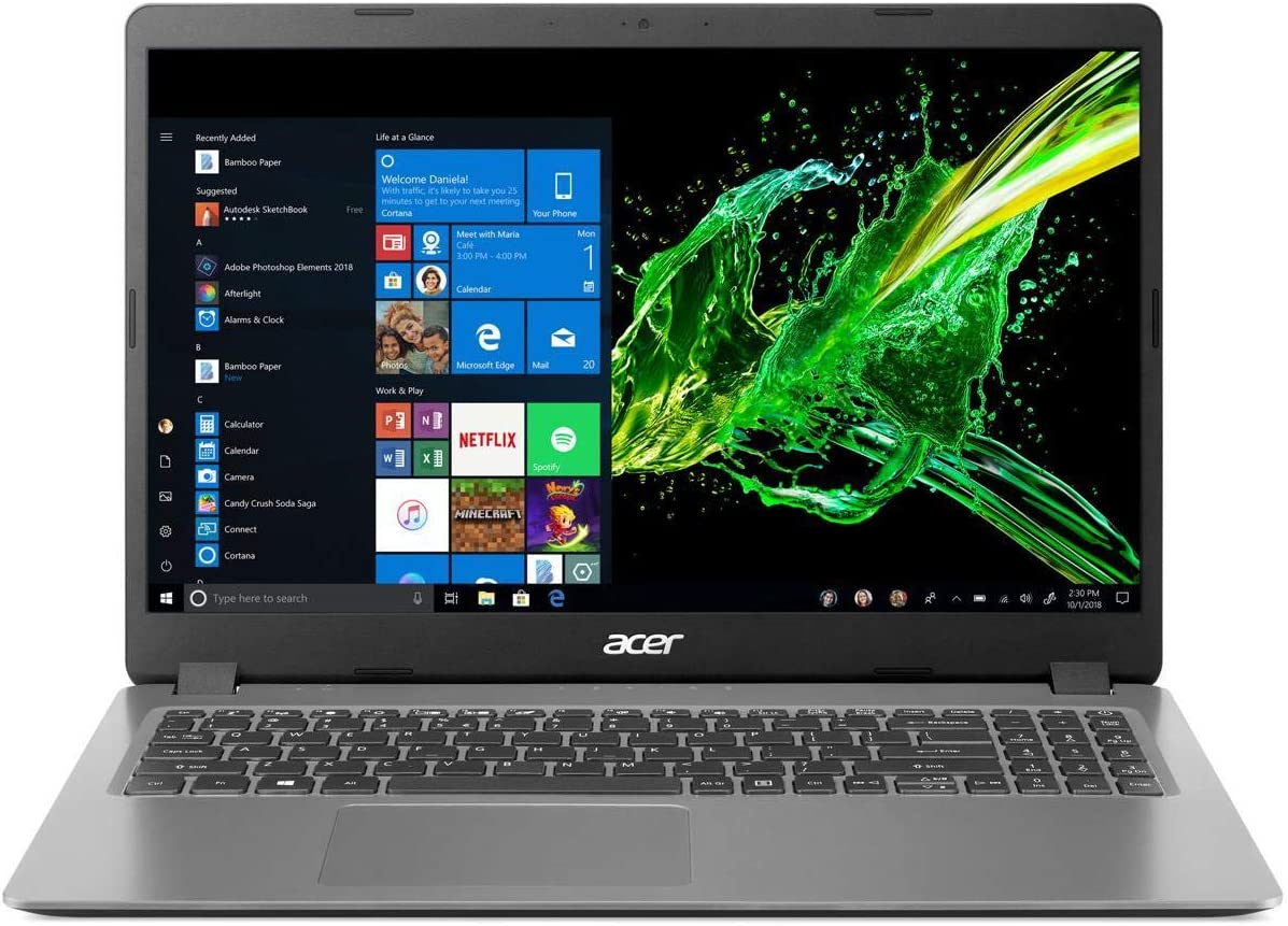 "Acer Aspire 3 Laptop, 15.6"" Full HD, 10th Gen Intel Core i5-1035G1, 8GB DDR4, 256GB NVMe SSD, Windows 10 Home, A315-56-594W"
