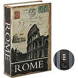 Jssmst Diversion Book Safe with Combination Lock, Secrect Hidden Safe Lock Box Large, SMBS020 Rome