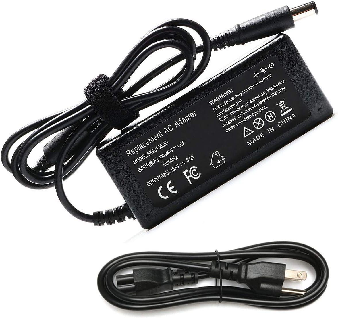 65W AC Adapter Laptop Charger for HP Elitebook 840 G1 G2 Revolve 810 G1 G2 850 Probook 640 650 655 440 450 G1 HP Notebook 2000 2000-2d60dx 2000-2d19wm 2000-369wm 2000-329wm PC Power Supply Cord Plug