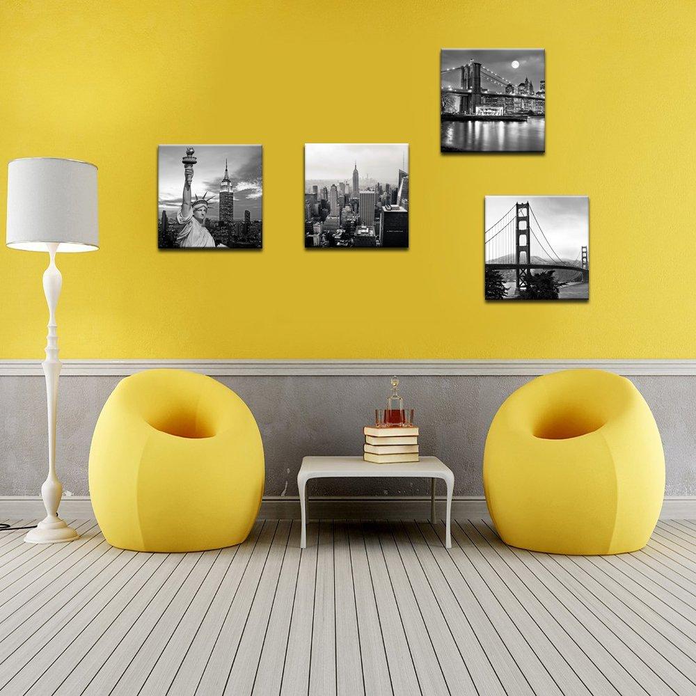 Amazon.com: Live Art Decor - Modern Black and White New York Wall ...