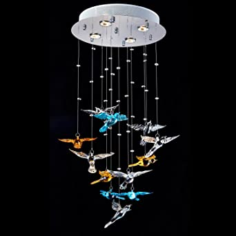 Lightinthebox clear crystal multi color bird shape lighting pendant lightinthebox clear crystal multi color bird shape lighting pendant modern lamp 4 lights flush mount mozeypictures Choice Image