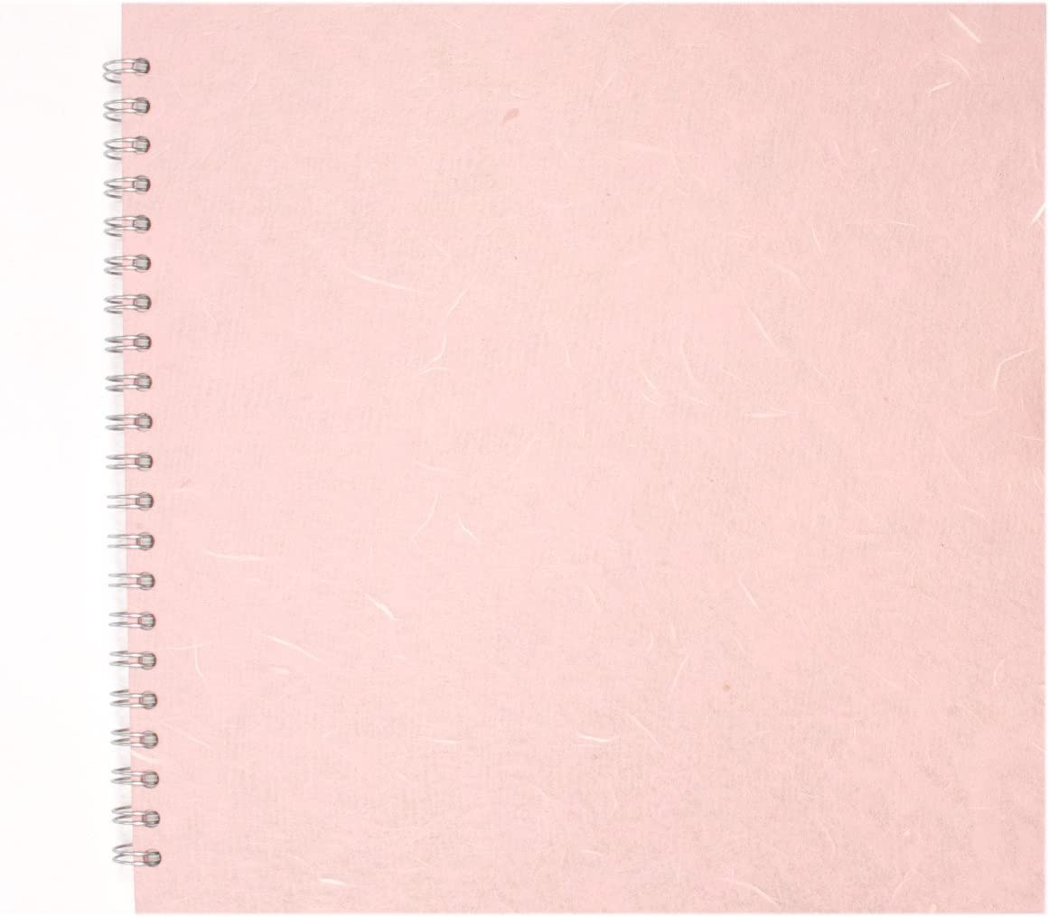 Pale Grey Pink Pig A4 Portrait Posh Silk Pig White Paper Sketchbook