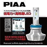 【Amazon.co.jp 限定】PIAA ヘッドライト・フォグランプ用 LEDバルブ 6000Kシリーズ 4000lm H8・H9・H11・H16 12V 20W 2年保証 車検対応 2個入 X7342 X7342