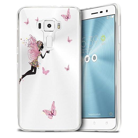 13 opinioni per Asus Zenfone 3 ZE552KL Custodia Cover, WenJie Rosa Ragazza Ali Silicone Case TPU