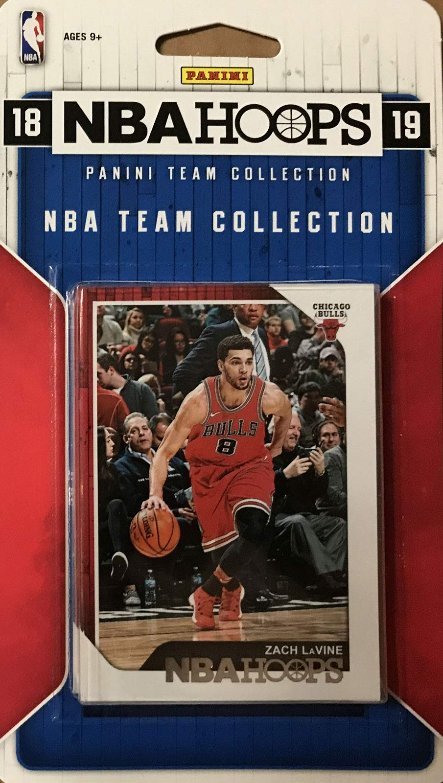 Chicago Bulls 2018 2019 Hoops Basketball NBA Licensed Factory Sealed 10 Card Team Set with Lauri Markkanen and Wendell Carter Rookie Card Plus