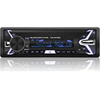 YOHOOLYO Radio Coche Bluetooth Auto Radio FM USB MP3 Audio Estéreo Manos Libres In-Dash [Caratula Extraíble]
