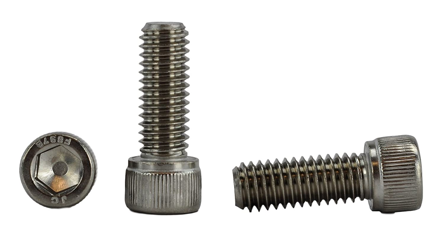3 816 x 1 Stainless 3 816 x 1  (3 4  to 3  Available) Socket Head Cap Screws, Full Thread, Hex Drive, Stainless Steel 188, Coarse Thread (3 816 x 1)