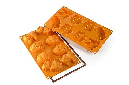 Silikomart Silicone Let's Celebrate Bakeware Multi Cake Pan, Halloween Frying Pans at amazon