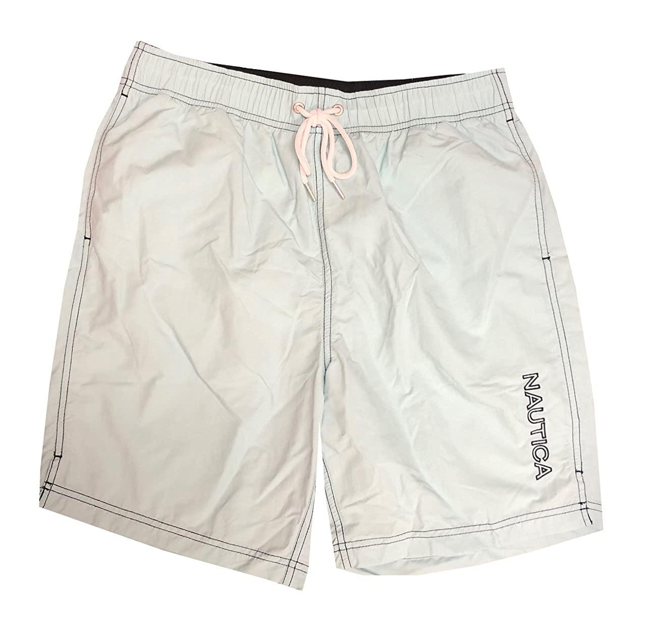 Nautica Mens Quick-Dry Logo Swim Trunk Shorts