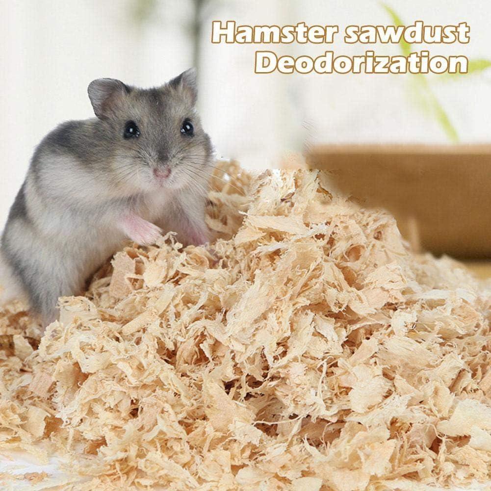 500g HáMster SerríN De Madera De Abedul Virutas De Virutas para Mascotas Desodorante Eliminar El Olor A Polvo Caliente Mat AserríN para Conejos Chinchilla