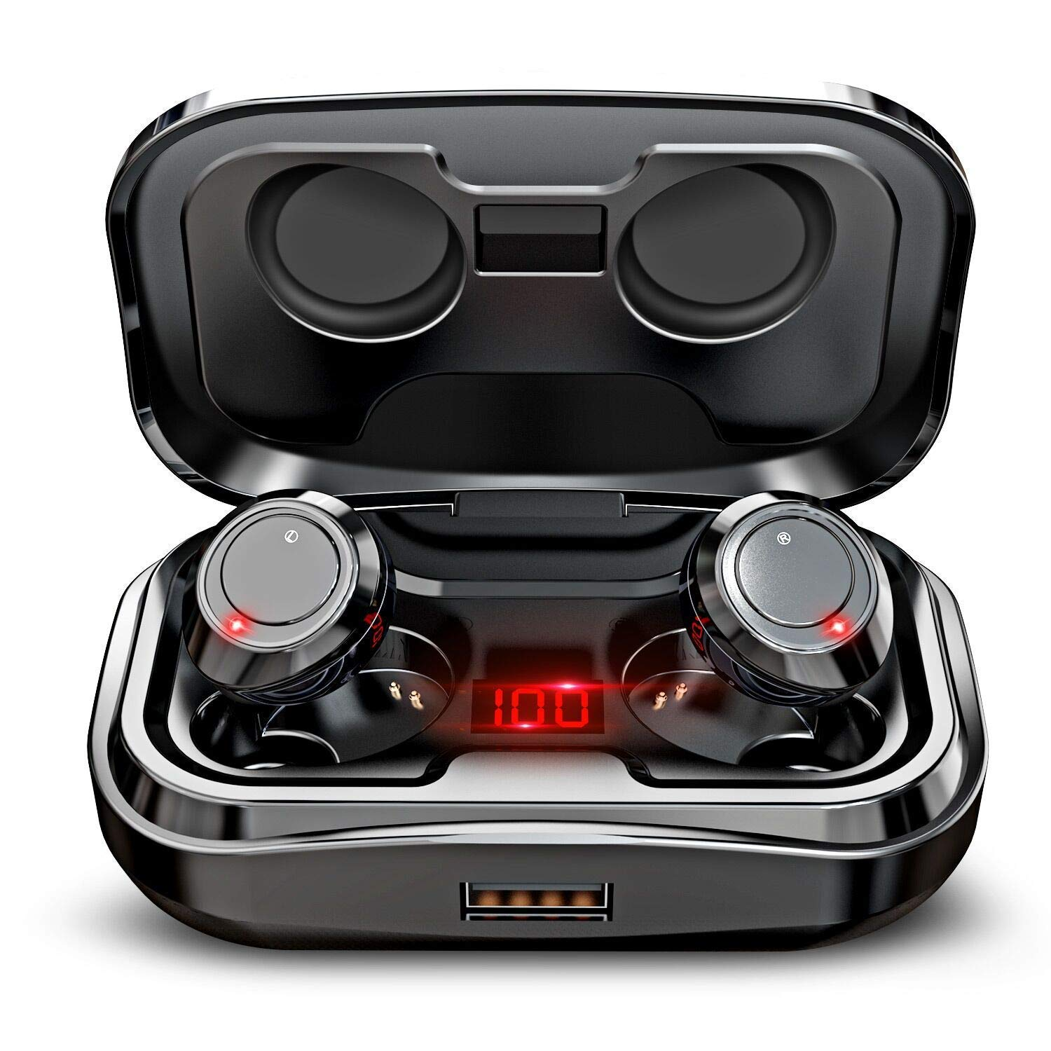GRDE X10 TWS Wireless Earbuds, Bluetooth 5.0 Headphones 105H Playtime with 3000 mAh Charging Case [As Power Bank], Stereo Auto Pairing in-Ear Bluetooth Earphones with Mic Wireless Headset 2019 by GRDE