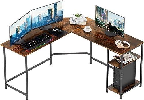 REYADE Large L-Shaped Desk 56.7 Inch