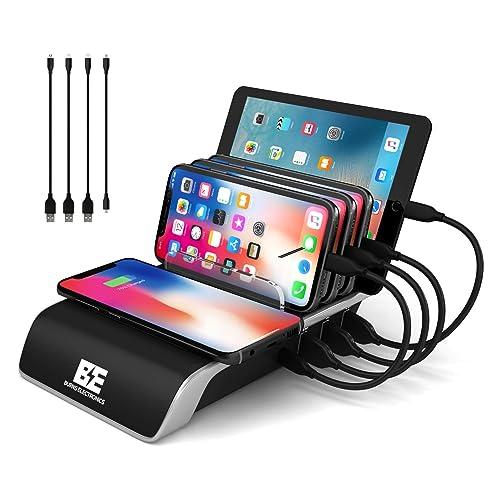charging station for multiple devices. Black Bedroom Furniture Sets. Home Design Ideas