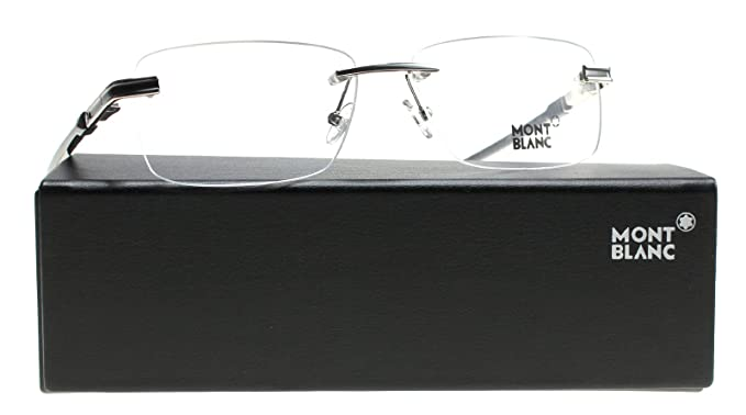 57a9a8e8ea78 Eyeglasses Montblanc MB 0679 016 shiny palladium at Amazon Men s ...