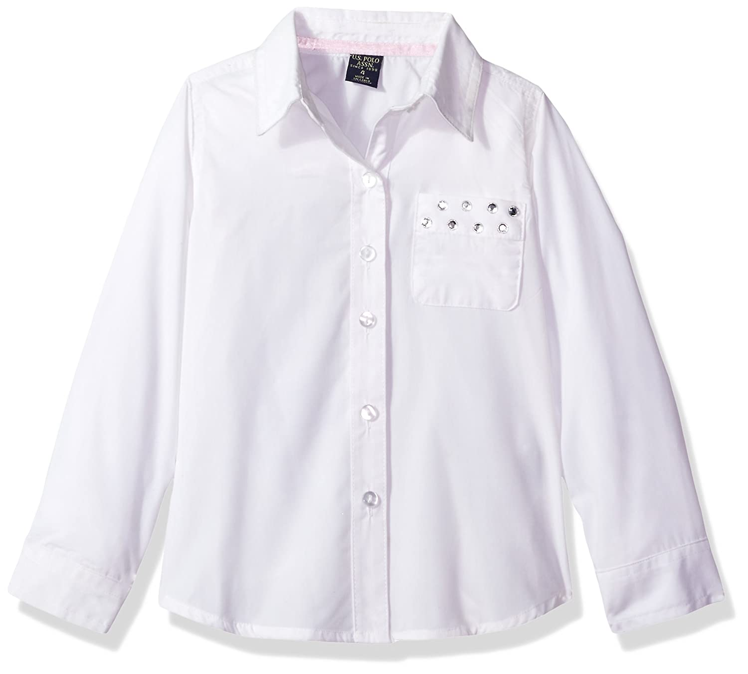 U.S. Polo Assn. Girls School Uniform Blouse HV68_1