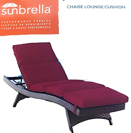 Pleasant Sunbrella 75X25 Red Chaise Lounge Cushion Pdpeps Interior Chair Design Pdpepsorg