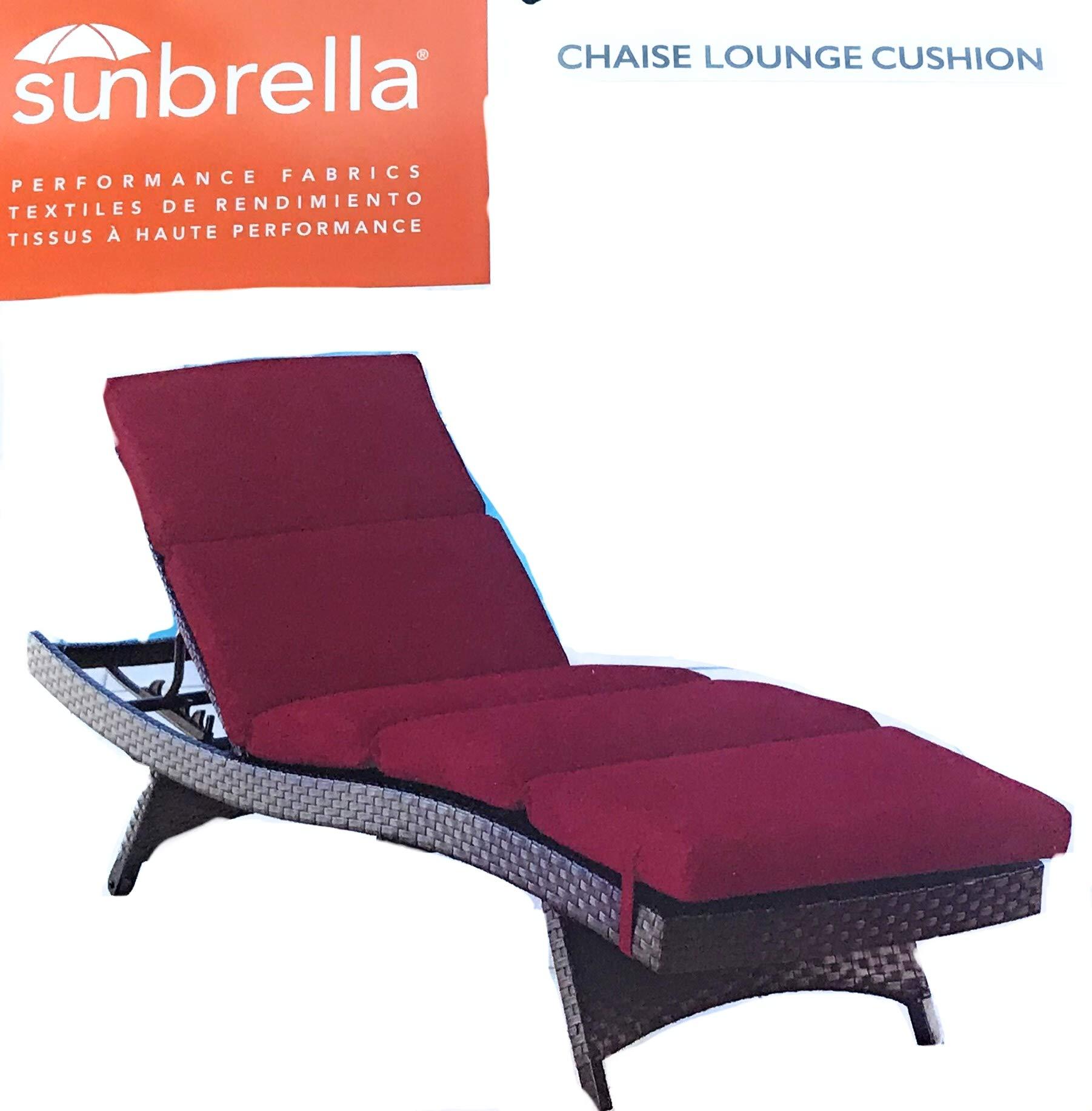 Sunbrella 75x25 Red Chaise Lounge Cushion