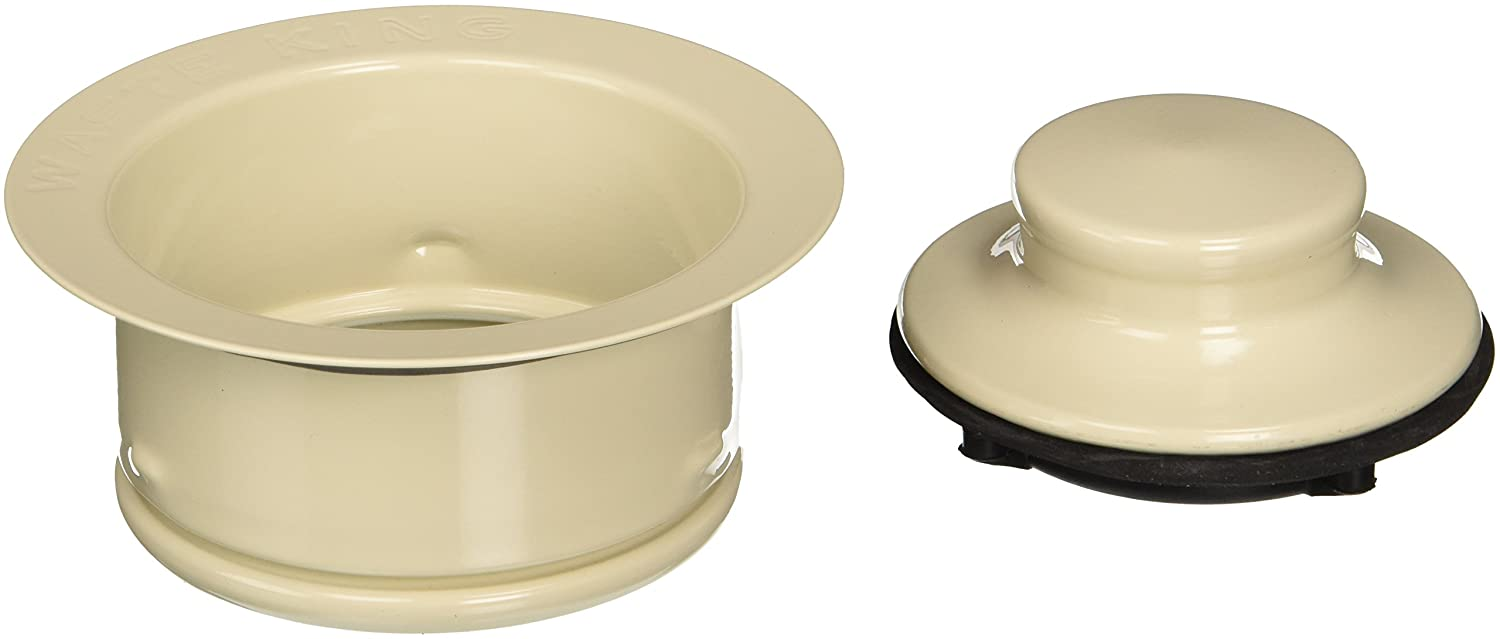 Waste King Decorative Garbage Disposal 3-Bolt Mount Sink Flange and Stopper, Brass - 3151AMC